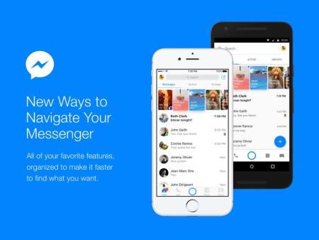 La app de Facebook Messenger se rediseña, poniendo a las conversaciones de primero