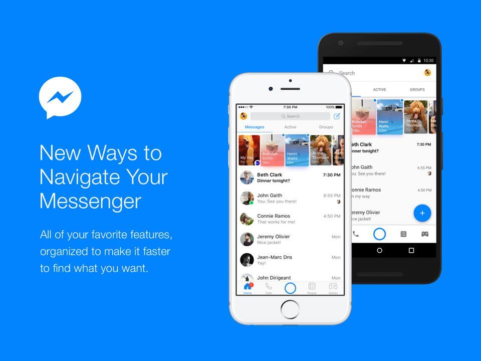 facebook messenger new design La app de Facebook Messenger se rediseña, poniendo a las conversaciones de primero