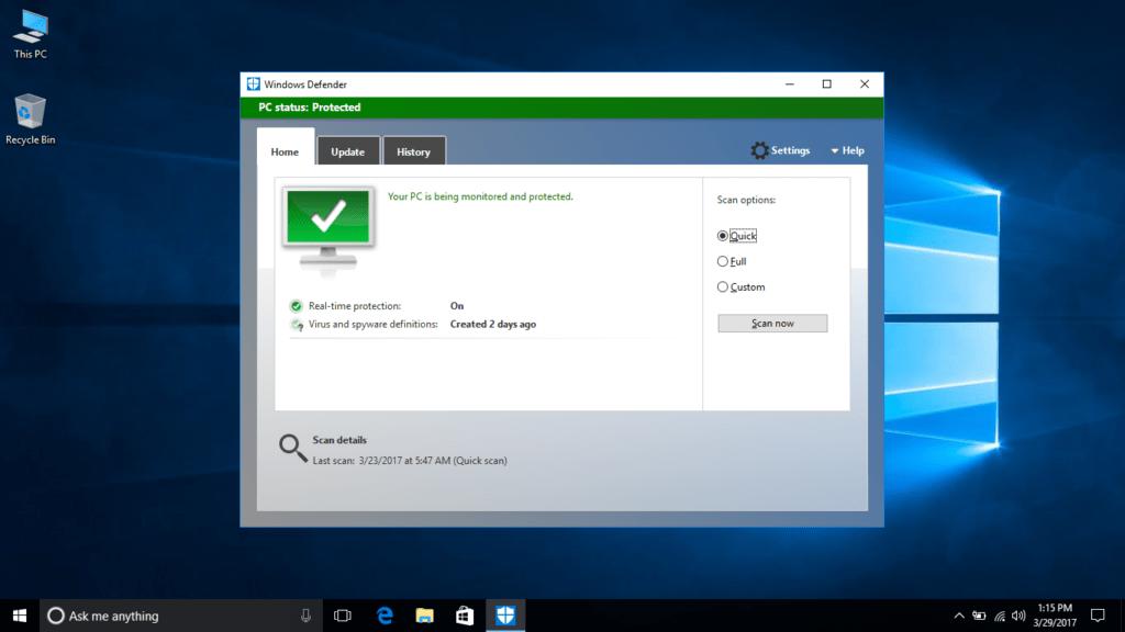 Microsoft arregla un serio bug de Windows Defender - microsoft-windows-defender-windows-10