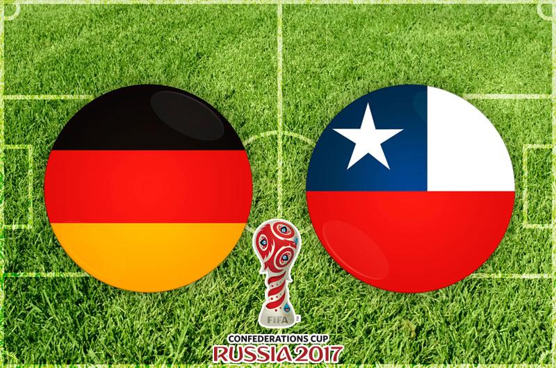 Alemania y Chile igualaron fuerzas