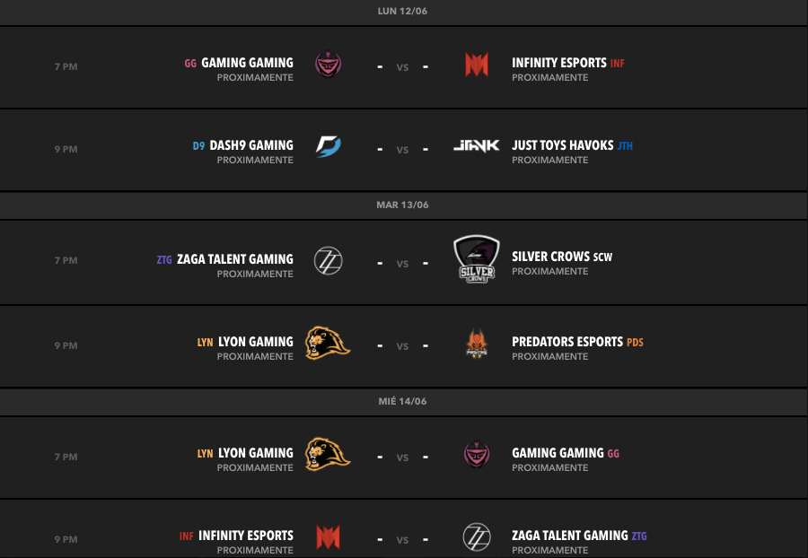 calendario semana 3 torneo clausura lln Liga Latinoamérica Norte: Predators eSports y Lyon Gaming empatados en primer lugar