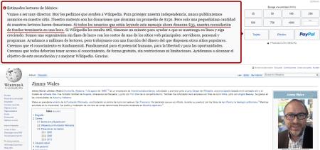 Wikipedia lanza mensaje de ayuda al mundo