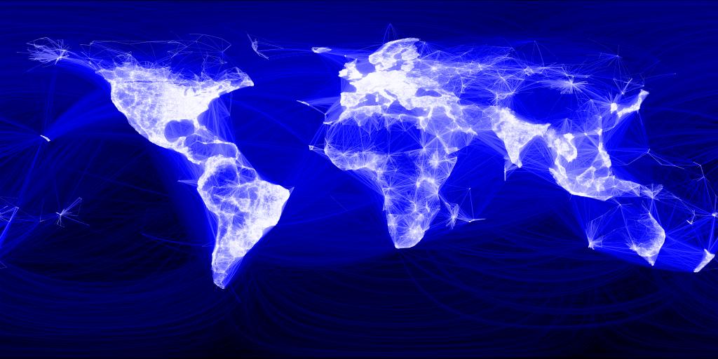 Facebook ya tiene dos mil millones de usuarios - facebook-friends-map