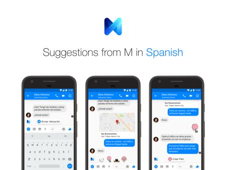 M, el asistente de Facebook Messenger, llega en español a usuarios de México y EEUU
