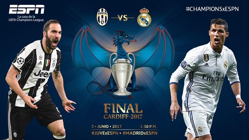 Final de Champions 2017 en vivo por ESPN: Real Madrid vs Juventus - final-champions-2017-real-madrid-vs-juventus-espn