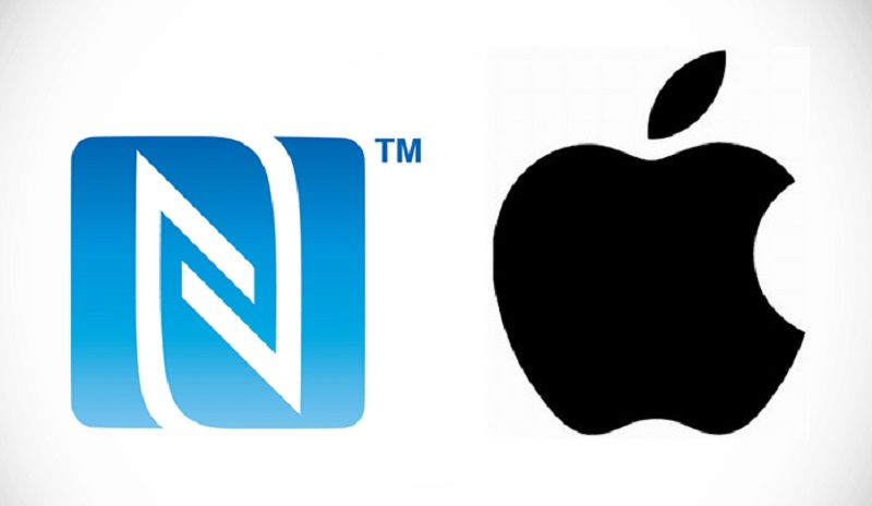 logo de nfc junto al logo de apple 800x464 Chip NFC estará disponible para desarrolladores en iOS 11