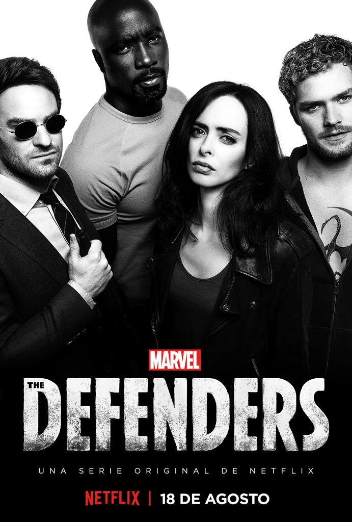 Netflix revela el arte principal de Marvel's The Defenders. - marvels-the-defenders-poster