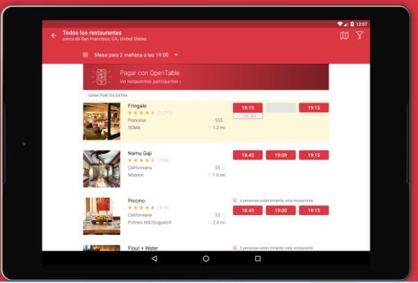 Tecnología al alcance del bolsillo para celebrar a tu papá - open-table-app-google-play-store