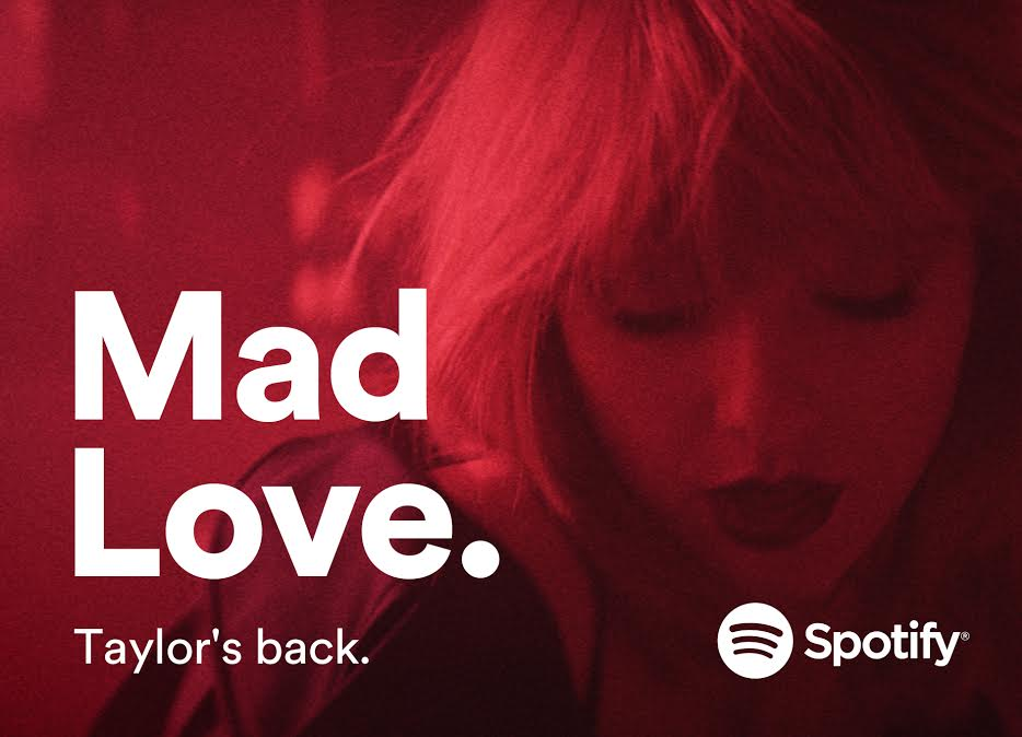 Spotify confirma el regreso de Taylor Swift a su plataforma - taylor