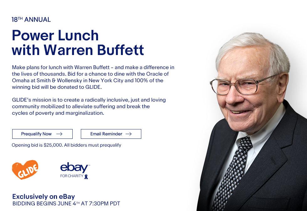 """eBay te da la oportunidad de almorzar con Warren Buffet, """"gurú de las inversiones"""" - warren"""