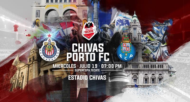 Chivas vs Porto, Súper Copa Tecate 2017 | Resultado: 2-2 - chivas-vs-porto-2017