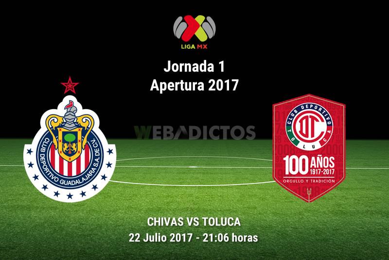 Chivas vs Toluca, Jornada 1 del Apertura 2017   Resultado: 0-0 - chivas-vs-toluca-j1-apertura-2017