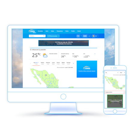 Lanzamiento de CLIMA México, servicio meteorológico digital en español