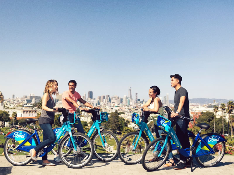 Ford GoBike, las bicicletas compartidas de Ford comienzan a circular en San Francisco - ford-gobike-2