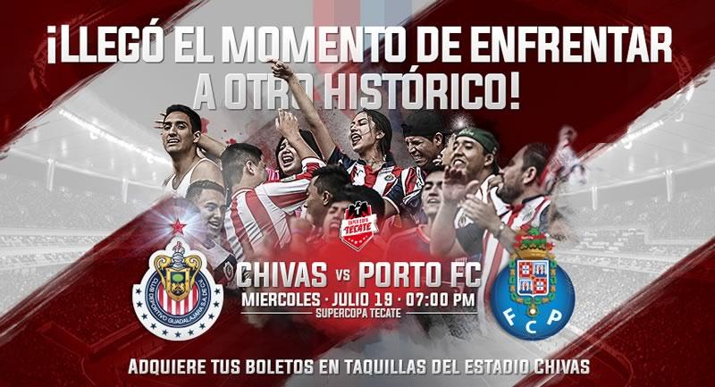 Horario Chivas vs Porto y en qué canal verlo; Súper Copa Tecate 2017 - horario-chivas-vs-porto-2017