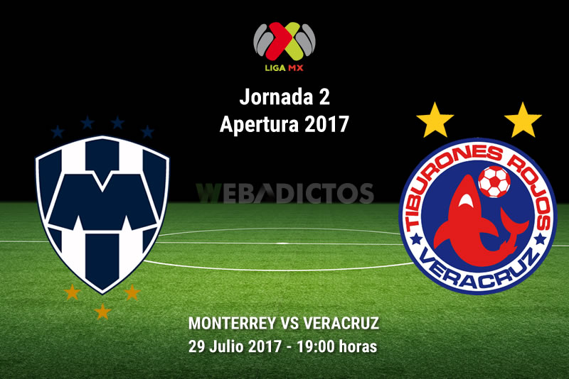 Monterrey vs Veracruz, Jornada 2 del Apertura 2017 | Resultado: 1-0 - monterrey-vs-veracruz-j2-apertura-2017