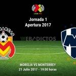 Morelia vs Monterrey, Jornada 1 Apertura 2017 ¡En vivo por internet!