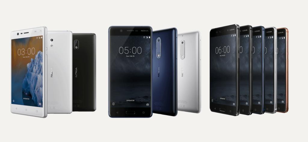 Nokia regresa a México en exclusiva en Walmart - nokia-3-nokia-5-nokia-6