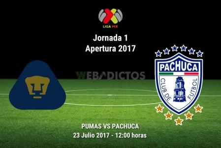 Pumas vs Pachuca, Jornada 1 Apertura 2017 | Resultado: 1-0