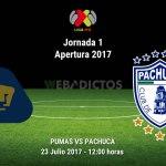 Pumas vs Pachuca, Jornada 1 Apertura 2017 ¡En vivo por internet!