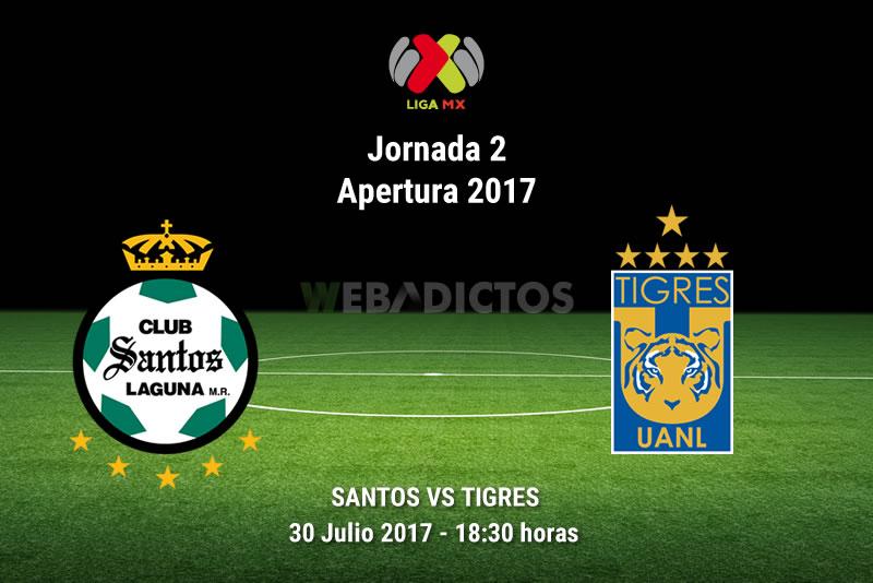 Santos vs Tigres, Jornada 2 del Apertura 2017 |Resultado: 1-1 - santos-vs-tigres-j2-apertura-2017