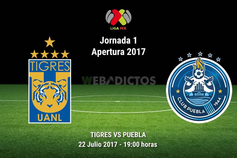 Tigres golea 5-0 a Puebla en su presentación en casa