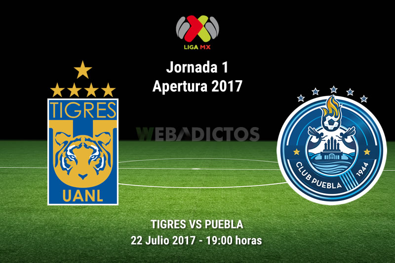 Tigres vs Puebla, Fecha 1 del Apertura 2017 | Resultado: 5-0 - tigres-vs-puebla-j1-apertura-2017
