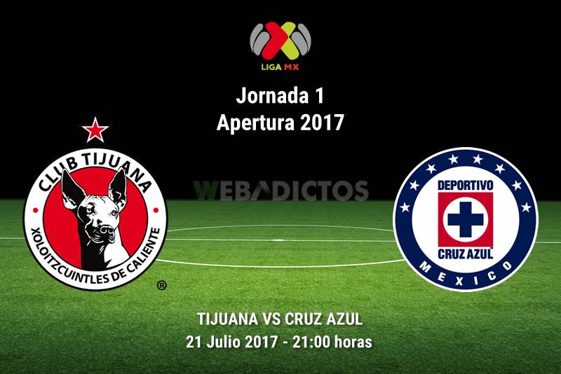 Tijuana vs Cruz Azul, Jornada 1 Apertura 2017 | Resultado: 0-2 - tijuana-vs-cruz-azul-j1-apertura-2017