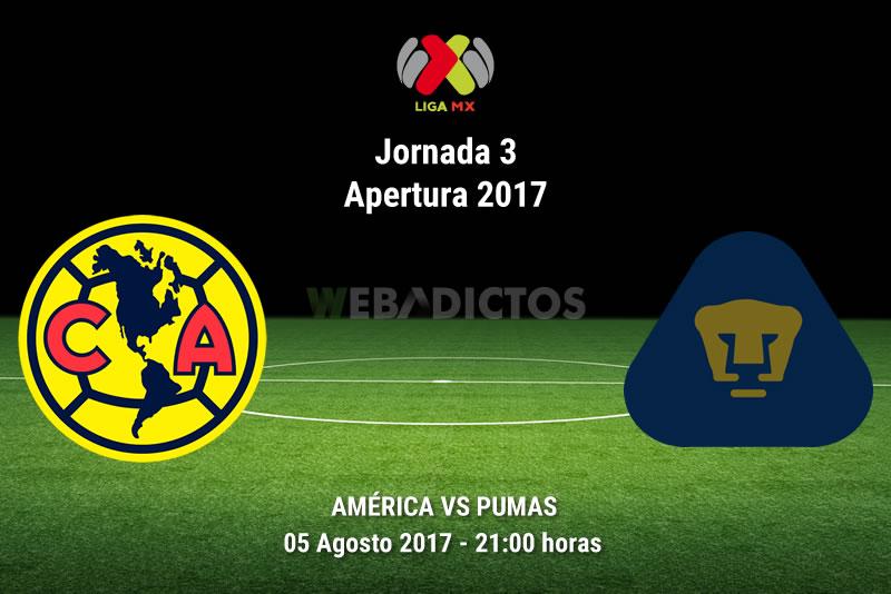América vs Pumas, Clásico Capitalino A2017 | Resultado: 2-1 - america-vs-pumas-j3-apertura-2017