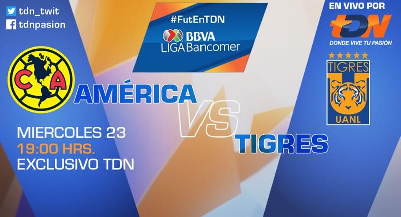 A qué hora juega América vs Tigres y dónde verlo; J6 Apertura 2017 - america-vs-tigres-j6-apertura-2017-tdn