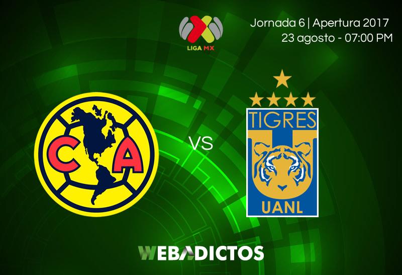 América vs Tigres, Jornada 6 de Liga MX A2017   Resultado: 2-2 - america-vs-tigres-jornada-6-apertura-2017