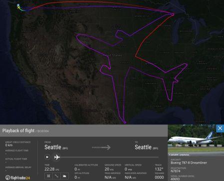 Boeing traza la silueta de un 787 Dreamliner en el cielo de los EE.UU