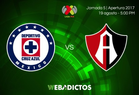 Cruz Azul vs Atlas, Jornada 5 Apertura 2017 | Resultado: 2-1