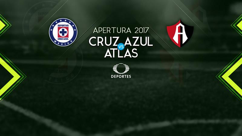 Cruz Azul vs Atlas, Jornada 5 Apertura 2017   Resultado: 2-1 - cruz-azul-vs-atlas-televisa-deportes-apertura-2017
