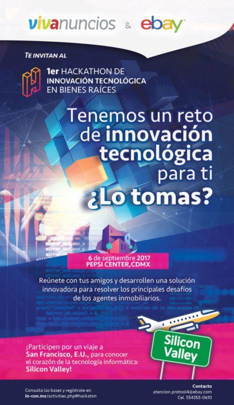 eBay y Vivanuncios lanzan el primer Hackathon de Bienes Raíces en México - hackathon_convocatoria-vf-462x800