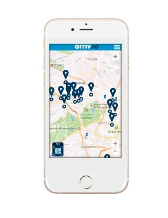 iphone con la app 348x450 Arriv.io, startup mexicana que está cambiando la experiencia de estacionarse