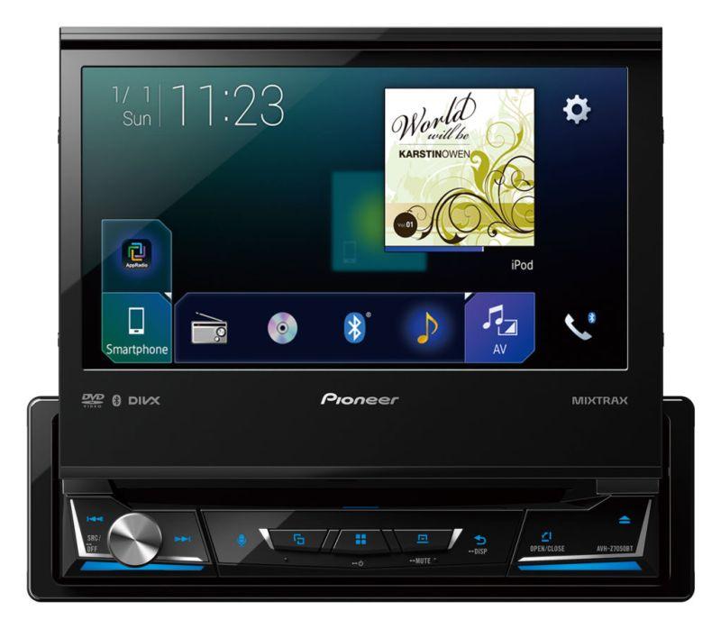 Nueva Serie Z de auto-estéreos multimedia de Pioneer - km698_avh-z7050bt_ri_blue_front_top-800x698