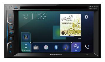 Nueva Serie Z de auto-estéreos multimedia de Pioneer - km704_avh-z2050bt_ri_blue_front_top