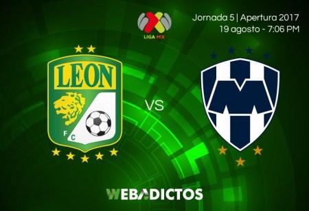 León vs Monterrey, Jornada 5 del Apertura 2017 | Resultado: 1-2