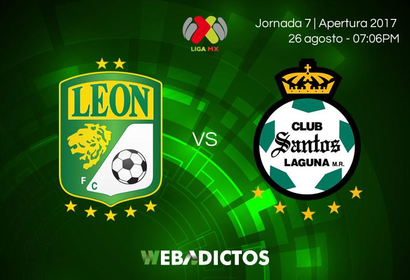 León vs Santos, Jornada 7 del Apertura 2017 | Resultado: 1-2 - leon-vs-santos-j7-apertura-2017