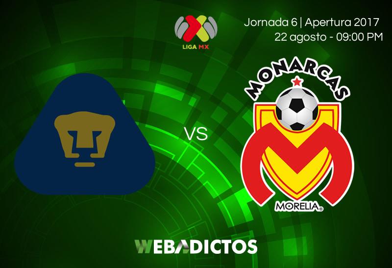 Pumas vs Morelia, Jornada 6 de la Liga MX A2017 | Resultado: 1-2 - pumas-vs-morelia-jornada-6-apertura-2017
