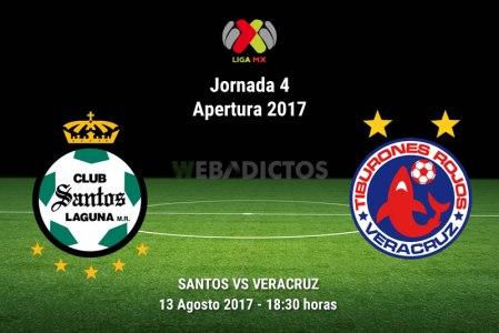 Santos vs Veracruz, Jornada 4 del Apertura 2017 | Resultado: 2-3