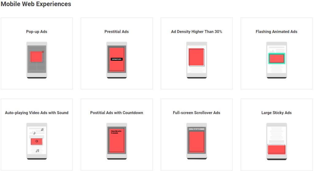 Google quiere combatir anuncios molestos en sitios web - worst-mobile-ads