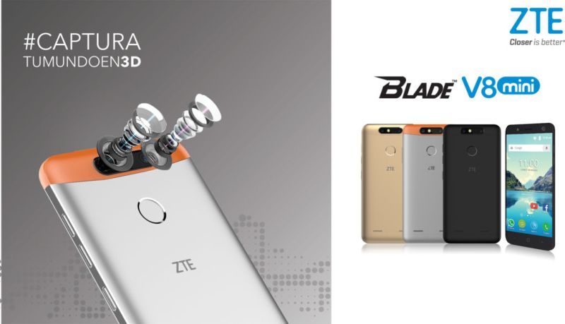 ZTE presenta el nuevo Blade V8 mini en México - blade-v8-mini-800x459