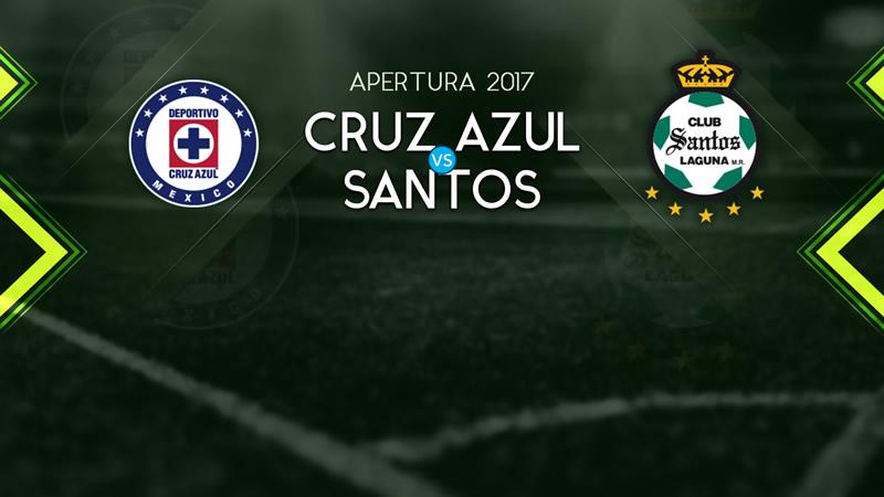 Cruz Azul vs Santos, Jornada 9 Apertura 2017 | Resultado: 2-1 - cruz-azul-vs-santos-televisa-deportes-j9-a2017