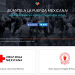 Desde aquí puedes donar directo a la Cruz Roja o a los Topos desde México o demás países