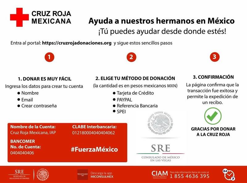 donar cruz roja sismo Cómo ayudar a México por el sismo, desde cualquier parte del mundo