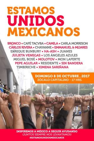 Estamos Unidos Mexicanos, el concierto para apoyar a México