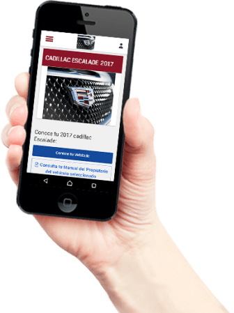 Nueva plataforma web de GM de México para clientes Chevrolet, Buick, GMC y Cadillac - homepage-cadillac-hand_ca_en