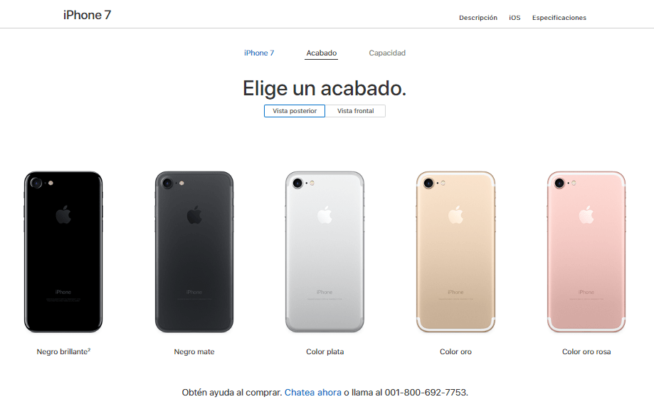 iphone 7 colors available Apple descontinúa a los iPhone 7 y 7 Plus PRODUCT (RED)